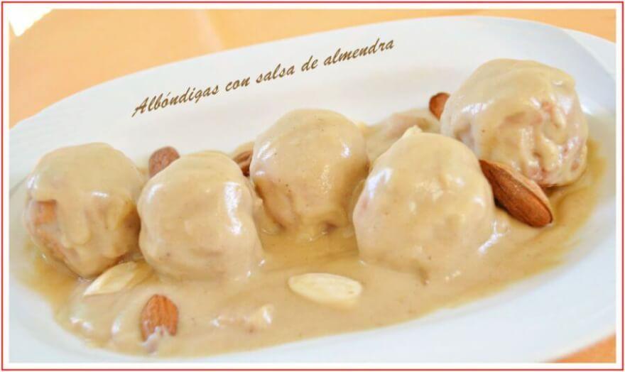albondigas salsa almendras recetasthermomix.net