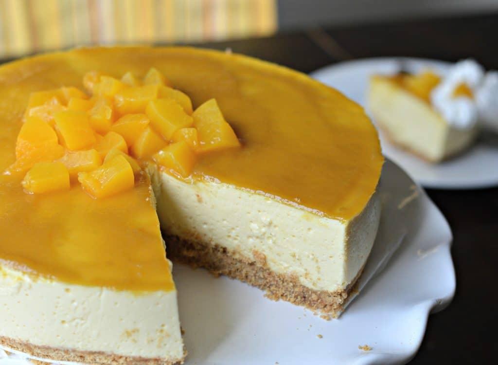Tarta casera de mango